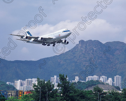 Approach to Kai Tak 